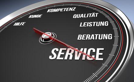 Hohe Serviceleistung